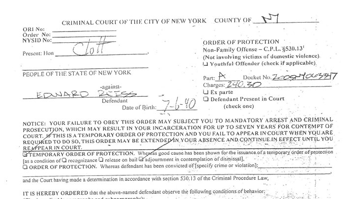 NYPD Criminal Order of Protection